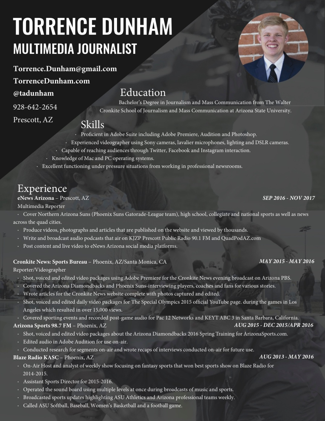 Torrence Dunham Resume